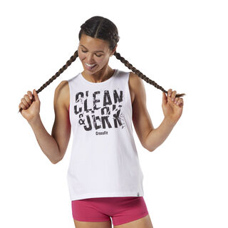 Reebok CrossFit 'Clean & Jerk' Muscle Tank White DH3719