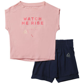 Essentials Infant Single Jersey Short Sleeve Set Squad Pink CF2745