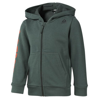 Boys Training Essentials Fullzip Hoody Chalk Green DM5553