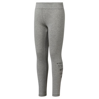 Girls' Classics Leggings Medium Grey Heather DH3317