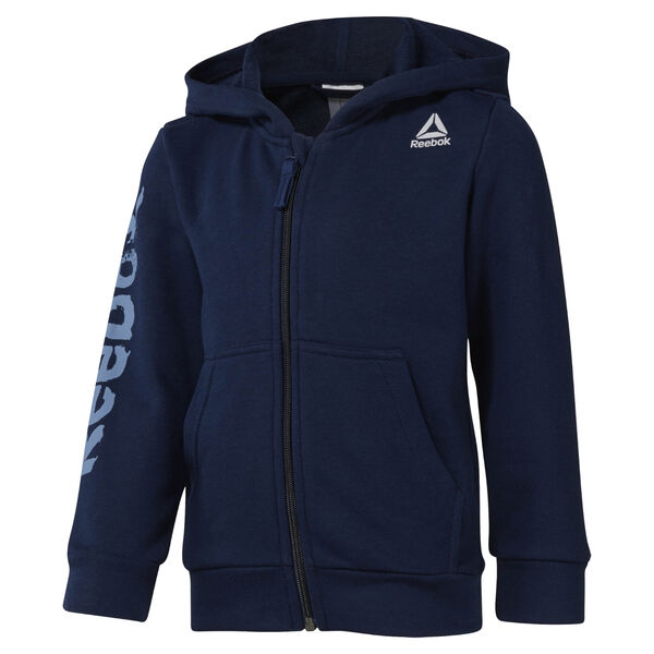 Boys Training Essentials Fullzip Hoody Blue DM5551