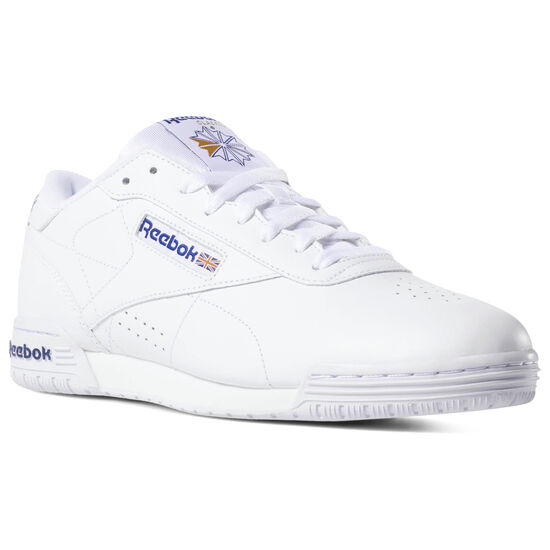 Reebok - Ex-O-Fit Clean Logo INT Intense White/Royal Blue/Royal Blue AR3169