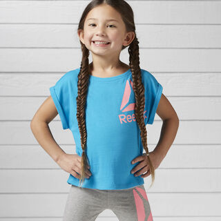Girls Essentials Tee Caribbean Teal BK4279