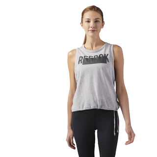 Waist Tie Tank Medium Grey Heather CE4414