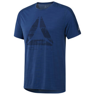 ACTIVCHILL Graphic Move Tee Bunker Blue D93810