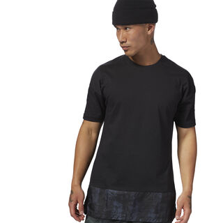 Training Essentials Knitted Woven Tee Black CY4855