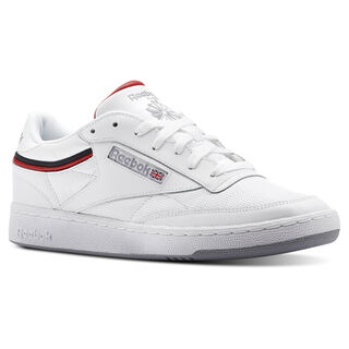 Club C 85 Sptlt-White/Collegiate Navy/Excellent Red CN3761