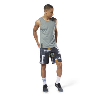 Reebok EPIC Cordlock Shorts - Digital CrossFit Black CY4955