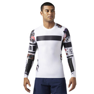 Reebok CrossFit Compression Long Sleeve Shirt White BS1586