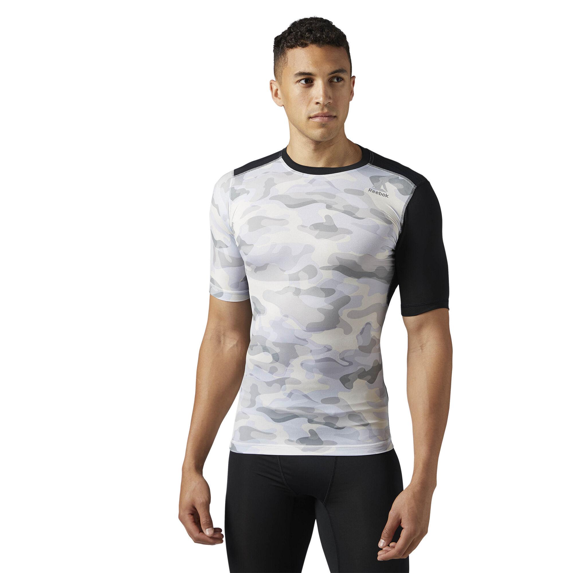 Reebok Sport ACTIVCHILL Graphic Compression Tee men Shirts /& Tops Green
