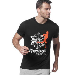 Classics R Unisex Tee Black / Energy Orange DX0142
