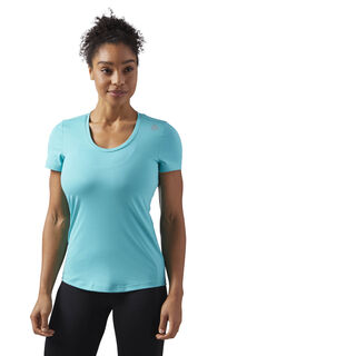 Workout Ready Speedwick Tee Turquoise/Solid Teal CF8683