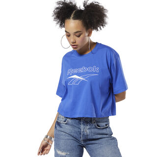 Classics Crop Tee Crushed Cobalt DX3942