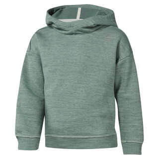 Girls Training Essentials Marble Melange Hoody Chalk Green DJ3056