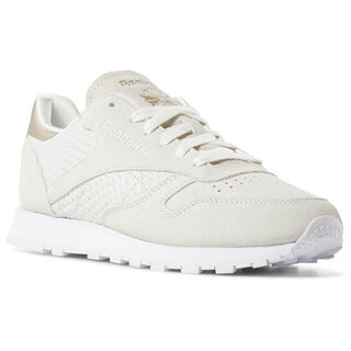 Classic Leather Emb-White/Chalk/Sleek Met CN3737