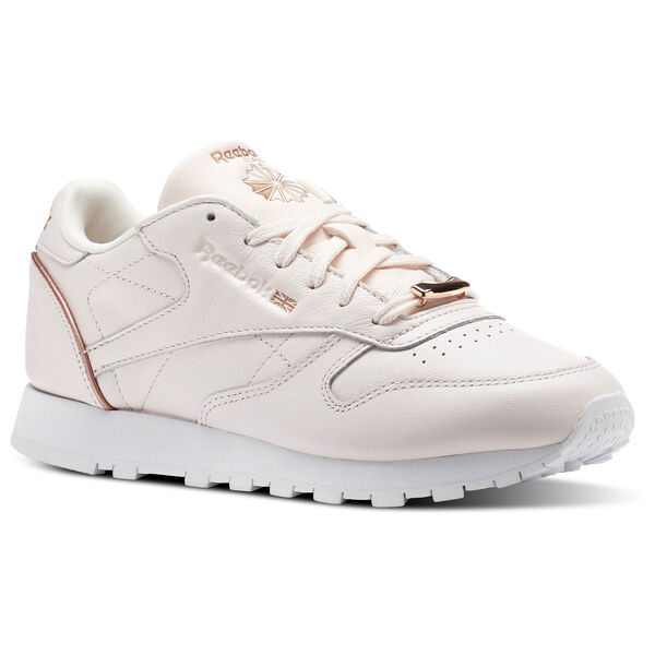 Classic Leather HW Pale Pink Rose Gold White BS9880 843d18fc09e1