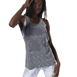 Running Burnout Trend Tank Dark Grey Heather D78728