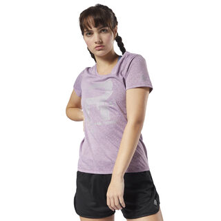Running Reflective Graphic Tee Twisted Berry D78941