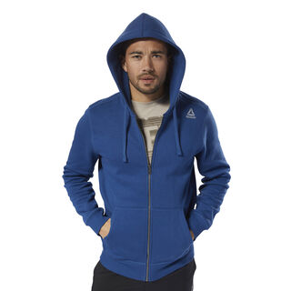 Elements Fleece Full Zip Hoodie Bunker Blue D94203