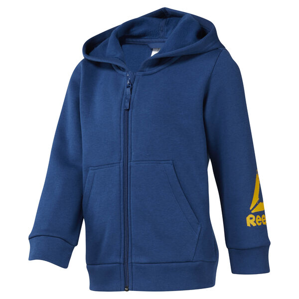 Boys Training Essentials Fullzip Fleece Hoody Blue DJ3083