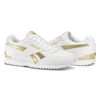 Reebok Royal Glide RPL Clip White/White/Gold Met BS5818