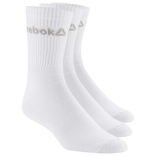 Active Core Crew Socks Three Pack White / White / White DU2992