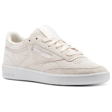 b7826ea6e4e122 Reebok - Reebok Club C 85 Trim Nubuck Pale Pink White Powder Grey BS9609