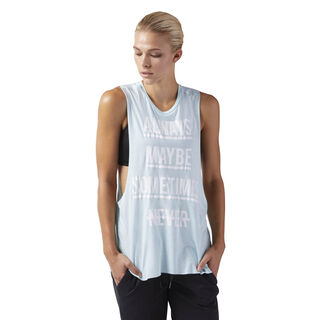 Training Supply Muscle Tank Blue Lagoon CF8616