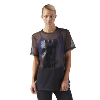 Mesh Graphic T-Shirt Black CD3764