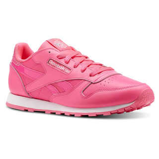 Classic Leather Girl Squad Pack Acid Pink/White CN5690