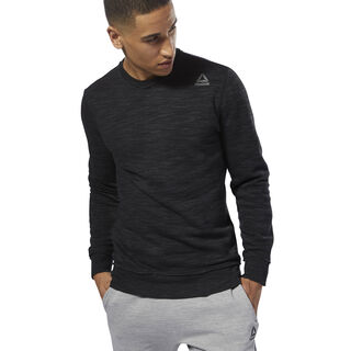 Elements Marble Melange Crew Sweatshirt Black CY4872