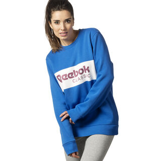 Classic Crew Neck Sweatshirt Vital Blue DX2345
