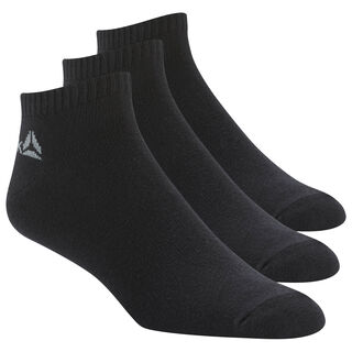 Active Core No Show Socks Three Pack Black / Black / Black DU2990