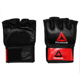 Combat Leather MMA Glove - Medium Black/Red BH7249
