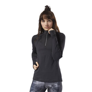 Running ThermoWarm Touch Quarter Zip Black CY4621