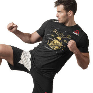 UFC Fight Kit Decorated Jersey Black / Ufc Gold DN2425