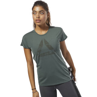 ACTIVCHILL Graphic Tee Chalk Green D93869