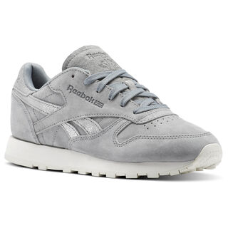 Classic Leather Shimmer Flint Grey/Matte Silver/Chalk BS9864