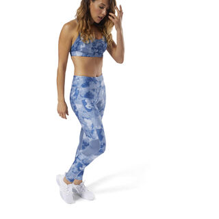 Running Tights - AOP Blue Slate CY4630
