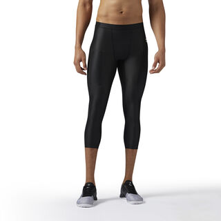 Reebok Combat 3/4 Compression Tights Black BS1579