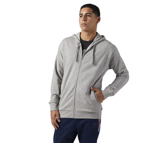 Reebok - Reebok Classics Franchise Full Zip Hoodie Medium Grey Heather BQ3400