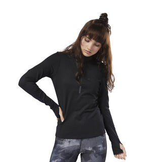 Run 1/4 Zip Top Black D78729
