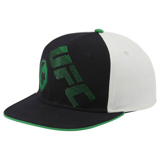 UFC Ultimate Fan Flat Brim Snapback Hat Black/White/Green BE6323
