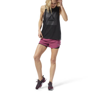 2-in-1 Perforated Shorts Twisted Berry D94137