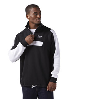 Quarter Zip Fleece Sweatshirt Black CE4993