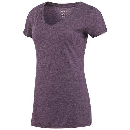 Reebok - Reebok V-Neck T-Shirt Pacific Purple BQ2421