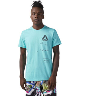 Speedwick Graphic Tee Turquoise/Solid Teal CF3741