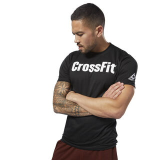 Reebok CrossFit Forging Elite Fitness Tee Black / White DH3702