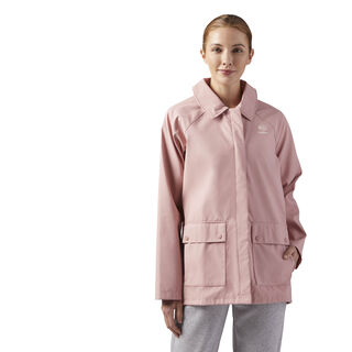 Relaxed Fit Coach Jacket Chalk Pink CE1802