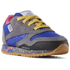 7c60e9a1cf6 Reebok - Classic Leather Ripple Altered - Toddler ASH GREY   BLUE   PINK    GOLD